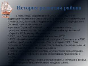 История развития района В первые годы существования РСФСР (1917-1922 гг.) на