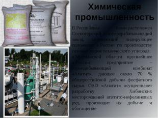 ВРеспублике Комирасположен Сосногорский газоперерабатывающий завод, занимаю