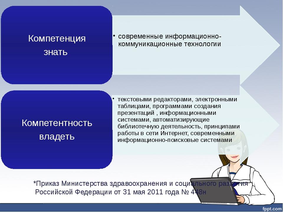 *Приказ Министерства здравоохранения и социального развития Российской Федера...