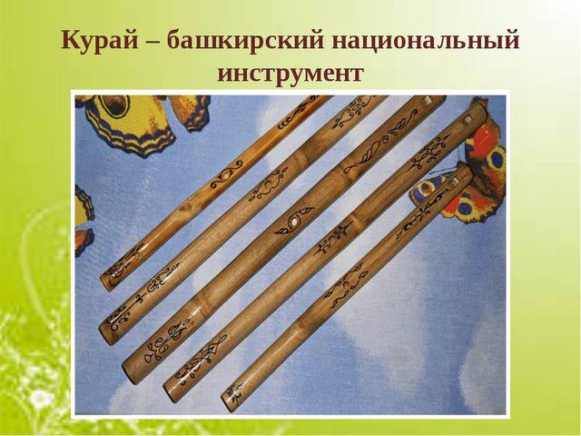 Курай – башкирский национальный инструмент
