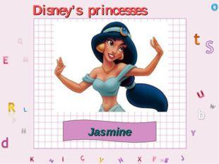 Disney's princesses Jasmine