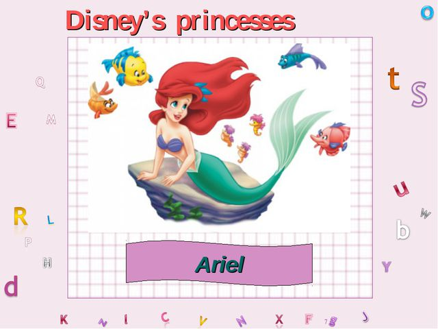 Disney's princesses Ariel