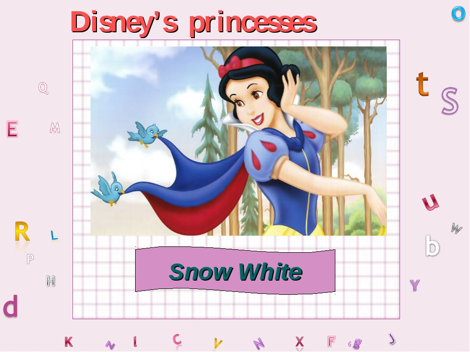 Disney's princesses Snow White