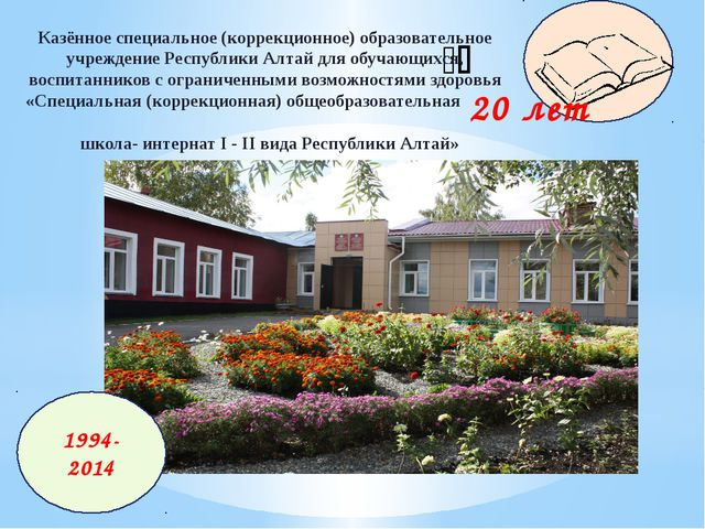  20 лет Казённое специальное (коррекционное) образовательное учреждение Ре...
