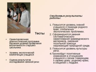 Тесты Ориентировочная диагностическая программа изучения уровней проявления в