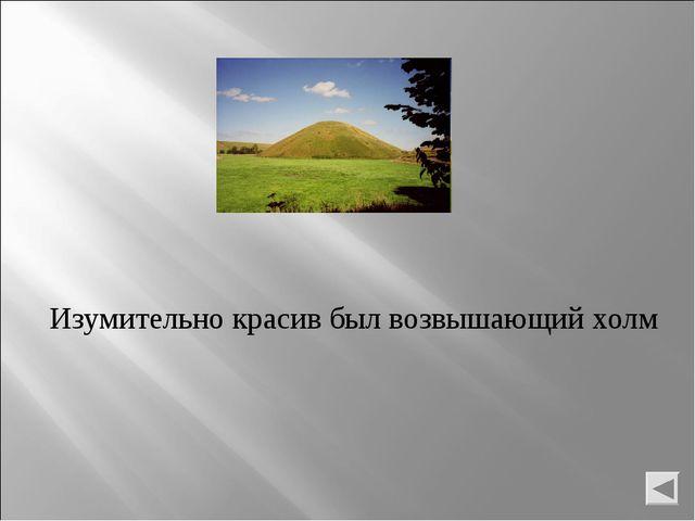 Изумительно красив был возвышающий холм