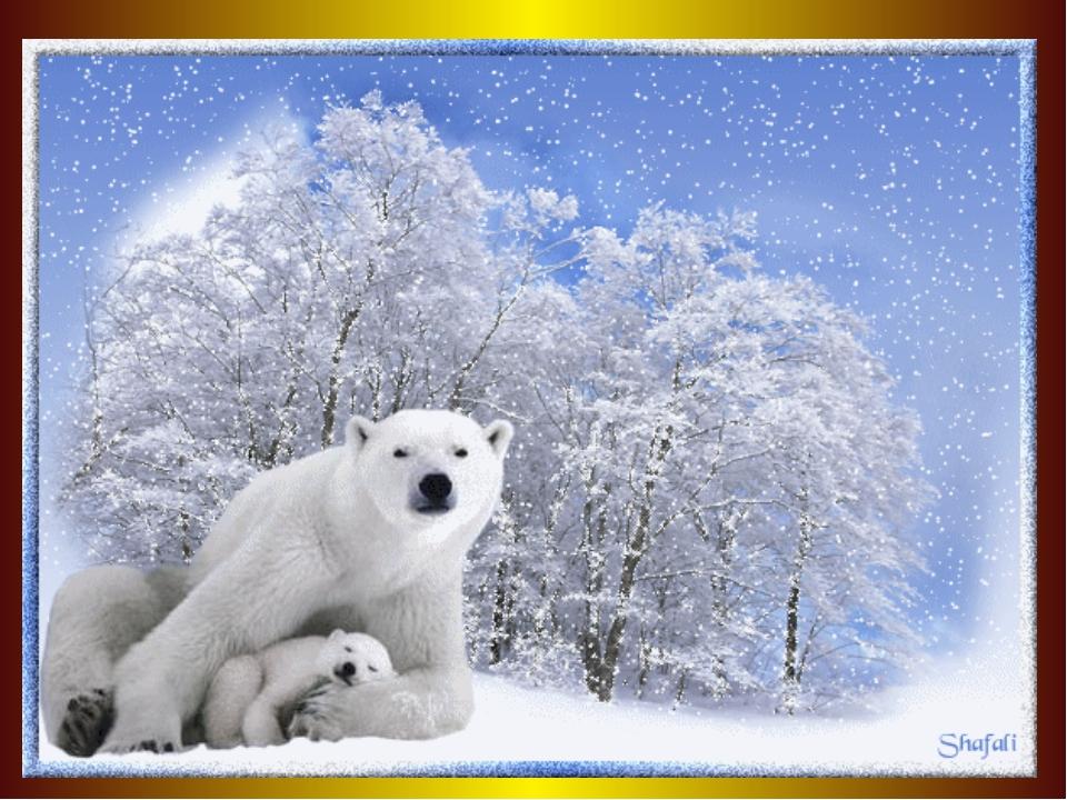 Картинки зима двигающиеся