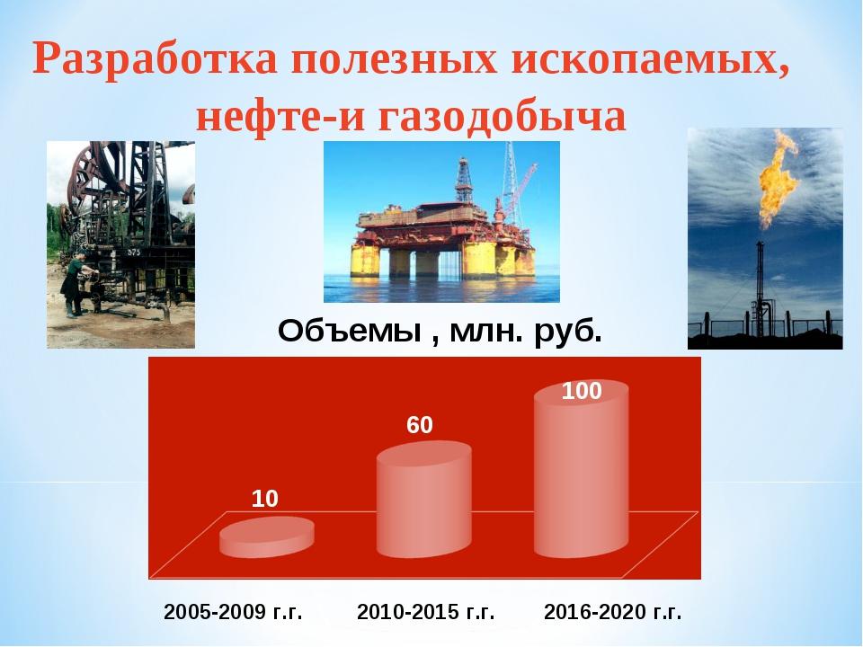 Разработка полезных ископаемых, нефте-и газодобыча 10 60 100 2005-2009 г.г. 2...