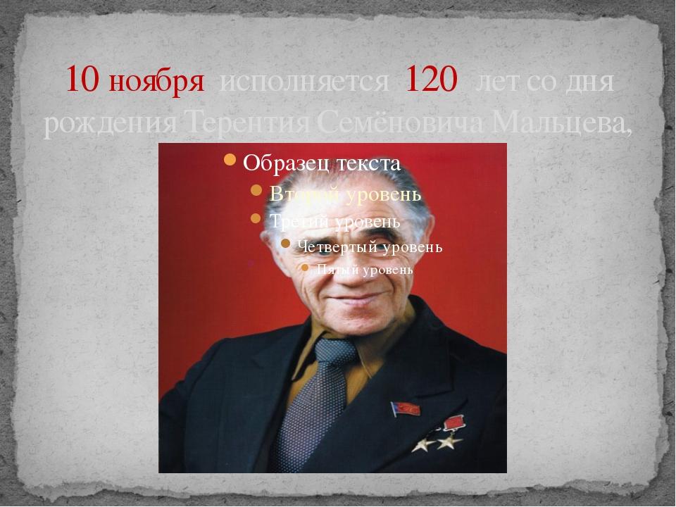 10 ноября  исполняется  120  лет со дня рождения Терентия Семёновича Мальцева,