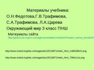Материалы учебника: О.Н.Федотова,Г.В.Трафимова, С.А.Трафимова, Л.А.Царева Окр