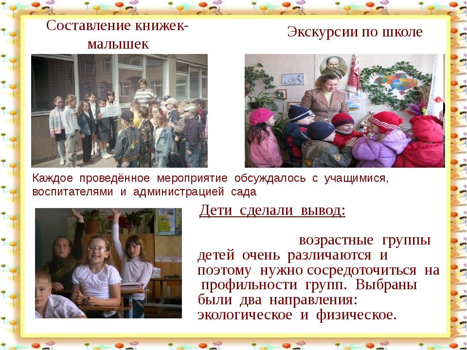 Составление книжек-малышек http://aida.ucoz.ru Экскурсии по школе Каждое пров...