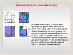 рис. 2 На древнекитайском чертеже четыре равных прямоугольных треугольника с