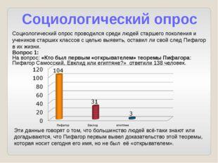 Социологический опрос Социологический опрос проводился среди людей старшего п