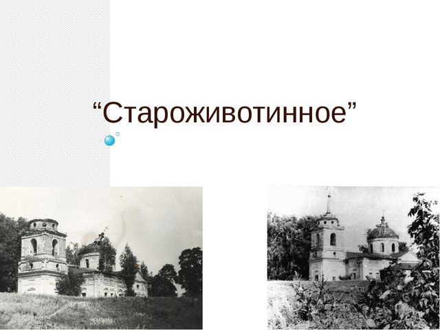 """""""Староживотинное"""""""
