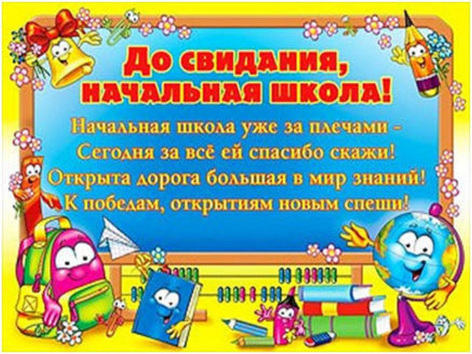 Поздравления учителям на выпускном начальной школы