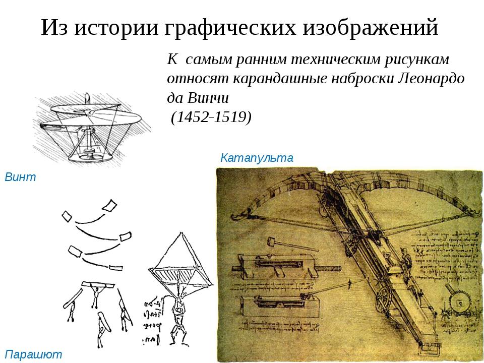 Из истории графических изображений К самым ранним техническим рисункам относя...