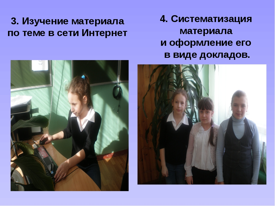 3. Изучение материала по теме в сети Интернет 4. Систематизация материала и о...