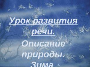 Урок развития речи. Описание природы. Зима.