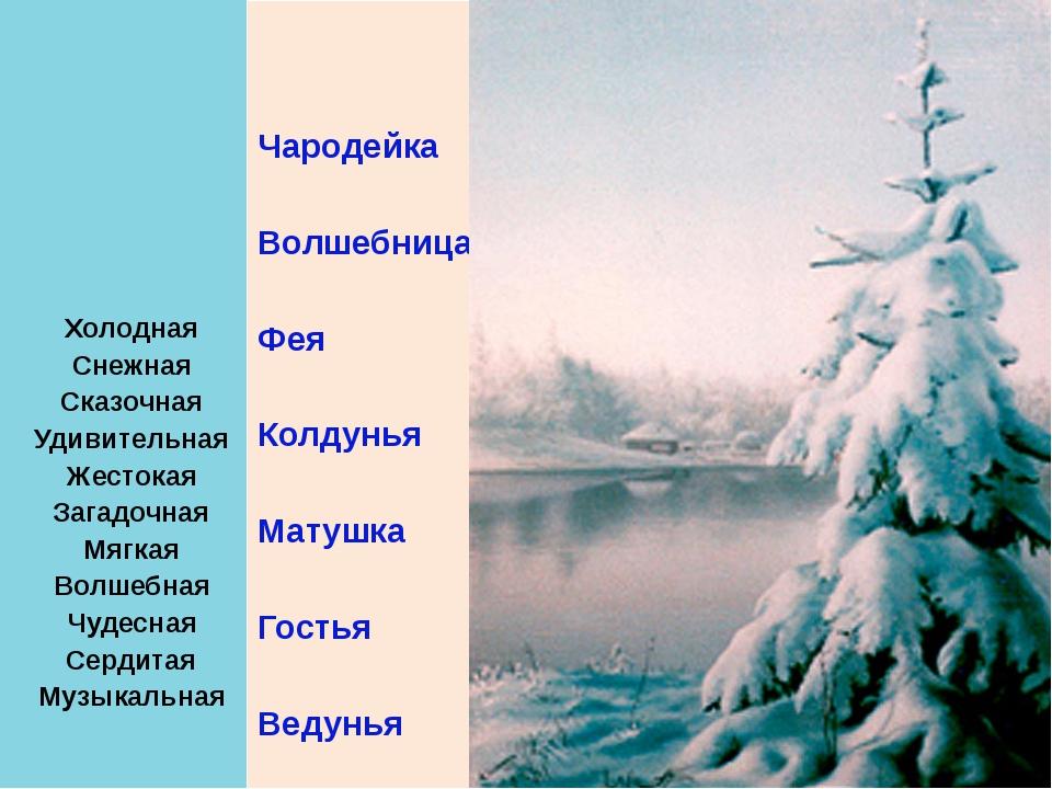 Холодная Снежная Сказочная Удивительная Жестокая Загадочная Мягкая Волшебная...