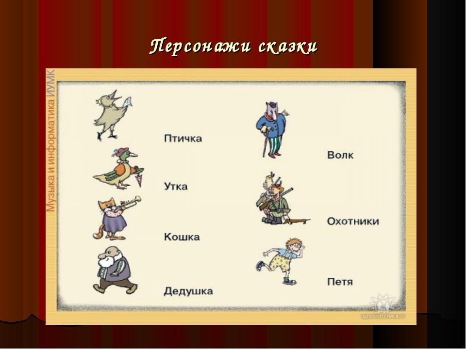тягу персонажи из сказки петя и волк картинки вашем