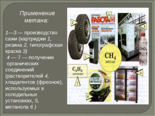 1—3 — производство сажи (картриджи 1, резина 2, типографская краска 3) 4 — 7
