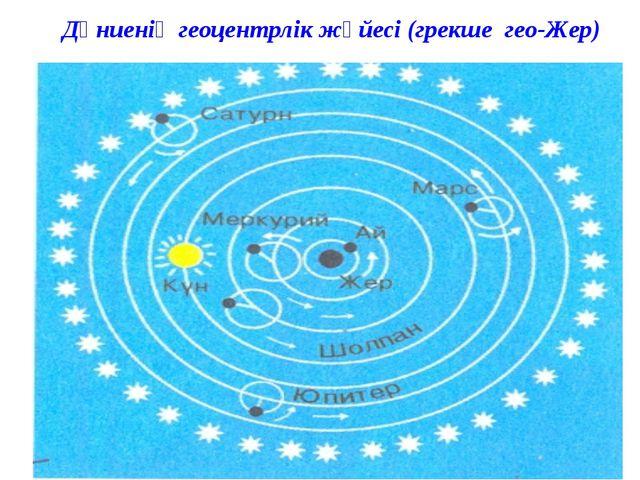 Дүниенің геоцентрлік жүйесі (грекше гео-Жер)