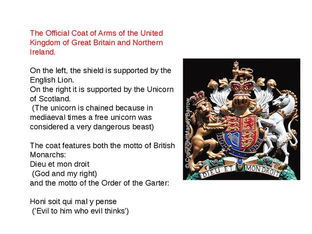 The Official Coat of Arms of the United Kingdom of Great Britain and Norther...