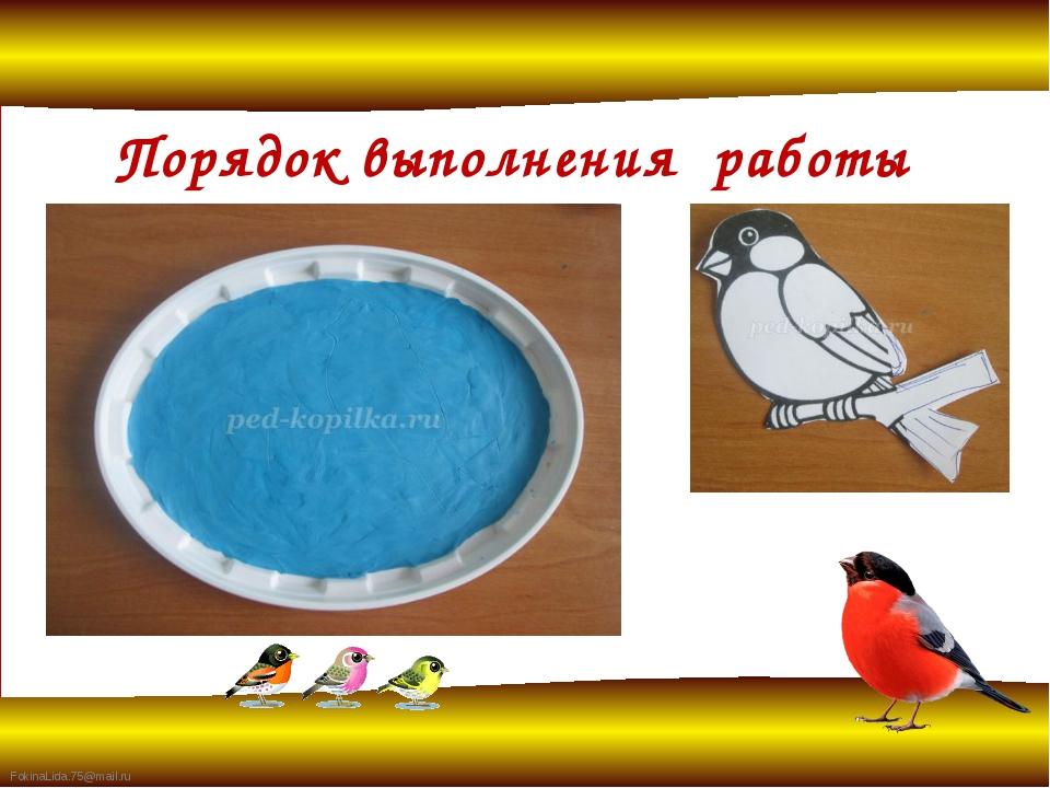 Порядок выполнения работы FokinaLida.75@mail.ru