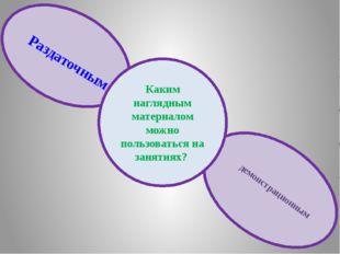 Каким наглядным материалом можно пользоваться на занятиях? Раздаточным демон