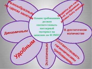 Каким требованиям должен соответствовать наглядный материал на занятиях по Ф