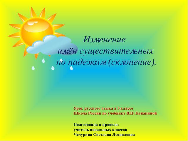 Изменение имён существительных по падежам (склонение). Урок русского языка в...