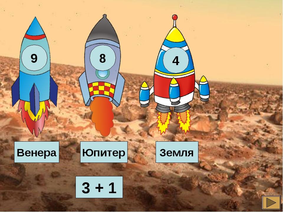 3 + 1 Земля Венера Юпитер
