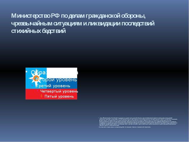 Министерство РФ по делам гражданской обороны, чрезвычайным ситуациям и ликвид...