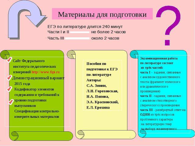 Материалы для подготовки Сайт Федерального института педагогических измерени...