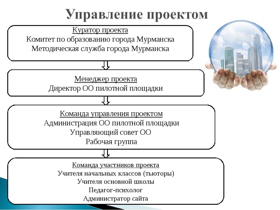 Куратор проекта Комитет по образованию города Мурманска Методическая служба г...