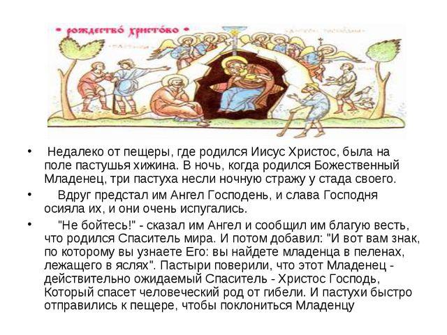 Недалеко от пещеры, где родился Иисус Христос, была на поле пастушья хижина....