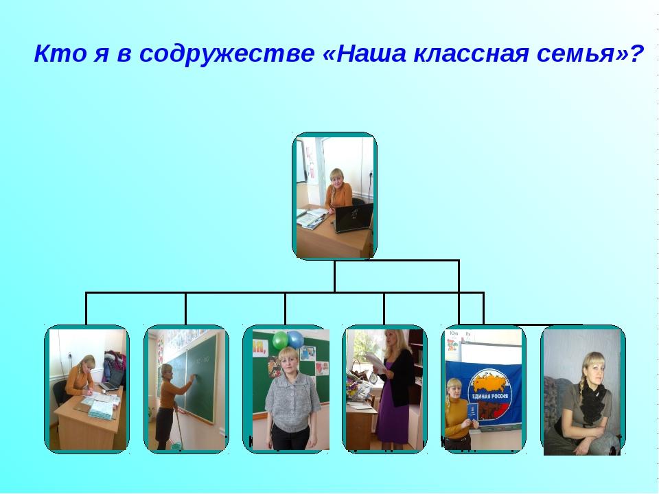 Кто я в содружестве «Наша классная семья»?