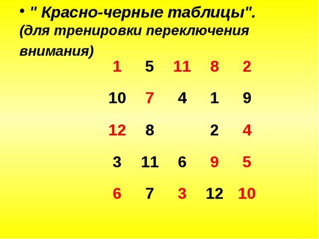 """"""" Красно-черные таблицы"""". (для тренировки переключения внимания) 151182..."""