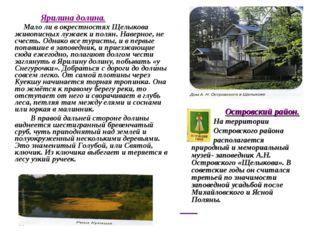 Ярилина долина. Мало ли в окрестностях Щелыкова живописных лужаек и полян. Н