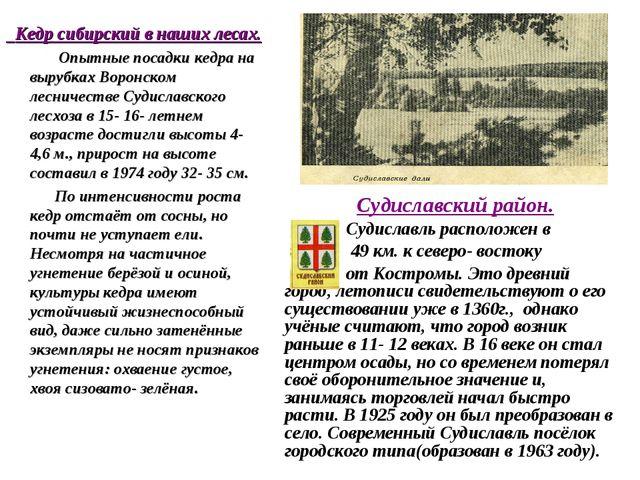 Судиславский район. Судиславль расположен в 49 км. к северо- востоку от Кост...