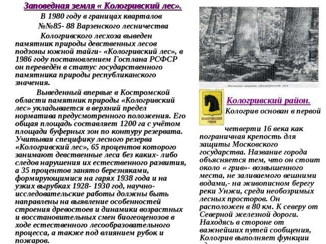 Кологривский район. Кологрив основан в первой четверти 16 века как пограничн...