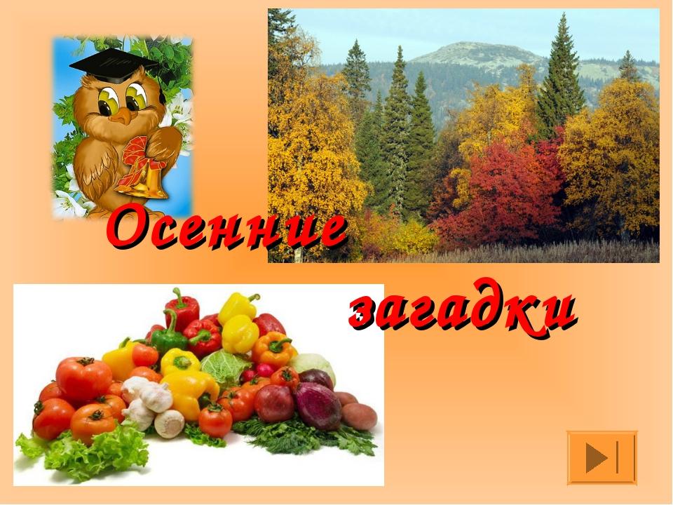 Осенние загадки