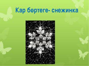 Кар бөртеге- снежинка