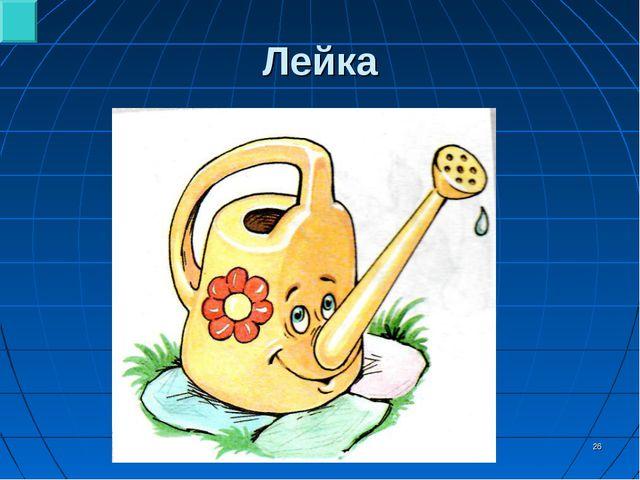 * Лейка