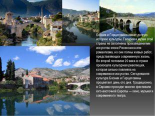 Босния и Герцеговина имеет долгую историю культуры. Галереи и музеи этой стра