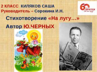 2 КЛАСС КИЛЯКОВ САША Руководитель – Сорокина И.Н. Стихотворение «На лугу…» Ав