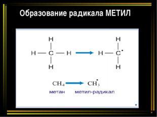 Образование радикала МЕТИЛ