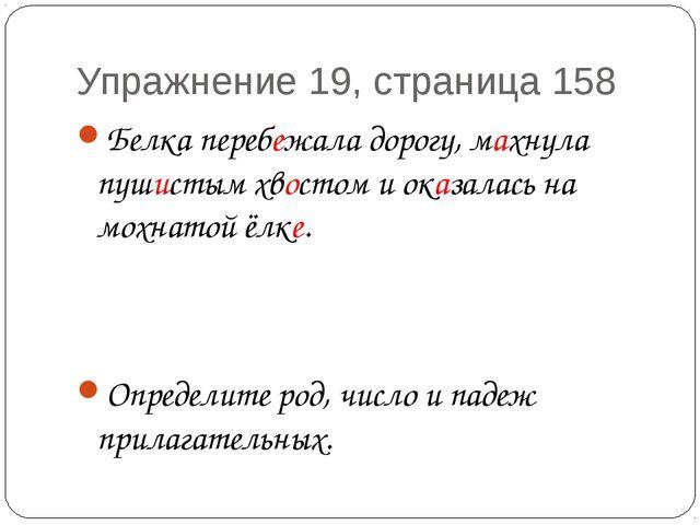 Упражнение 19, страница 158 Белка перебежала дорогу, махнула пушистым хвостом...