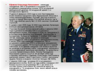 Ефимов Александр Николаевич - командир эскадрильи 198-го штурмового и штурман