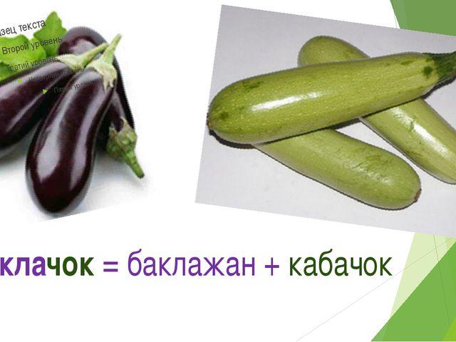 Баклачок = баклажан + кабачок